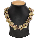 Golden Necklace With Zinc Alloy - TPNW13-202