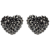 Grey and Gunmetal Earring with Zinc Alloy - TPER-307