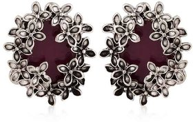 Purple Earring with Zinc Alloy - TPER-318