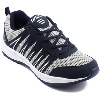 Asian Men Gray & Navy Lace-up Running Shoes