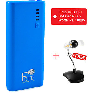 Branded 11000 MAh Power Bank With Free USB LED Message Fan Worth Rs. 1000
