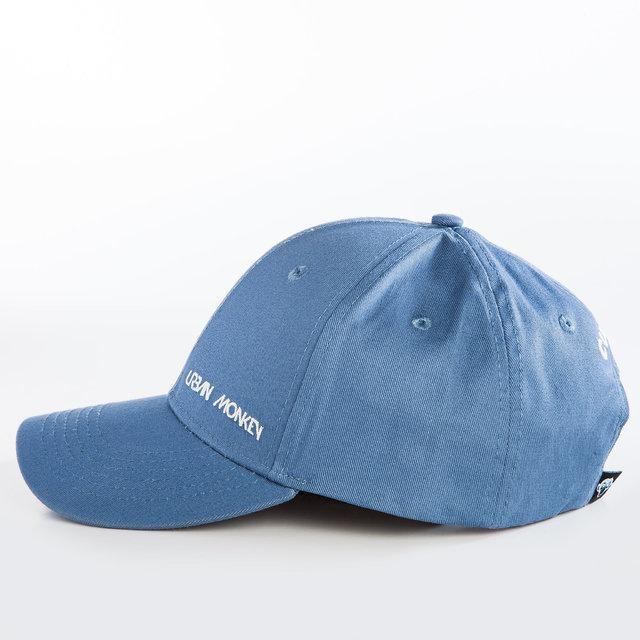 7564a8c59 Urban Monkey Snapback Unisex Washed Blue Cotton Cap