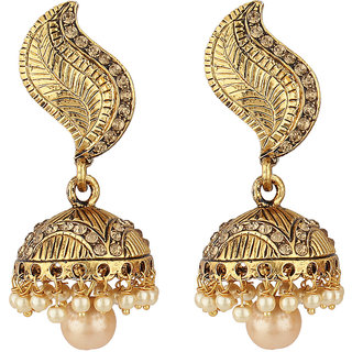 Angel In You Exclusive Golden White Earrings. M-1251
