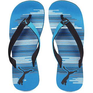 Puma Mens Black  Blue Flip Flops