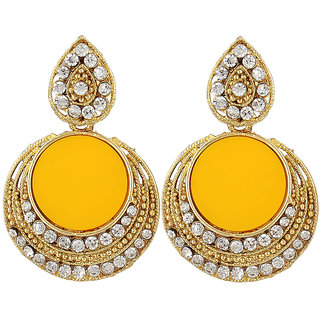 Angel In You Exclusive Golden White Yellow Multi Colour Earrings. M-1264