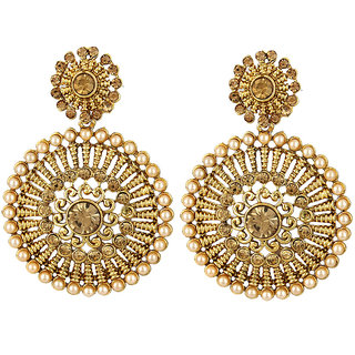 Angel In You Exclusive Golden White Earrings. M-1278
