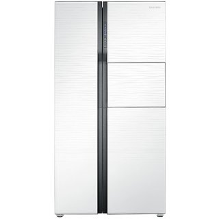 Samsung RS554NRUA1J Frost-free Side-by-Side Refrigerator (591 Ltrs, Shinny River Pattern)