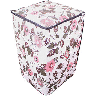 Glassiano Floral And Leafy Multi coloured Waterproof & Dustproof Washing Machine Cover For HAIER HWM60-12699NZPFully Automatic Top Load 6kg washing machine