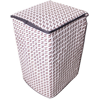 Glassiano Abstract Silver coloured Waterproof & Dustproof Washing Machine Cover For Godrej WT Eon 650 PHU Fully Automatic Top Load 6.5 kg washing machine