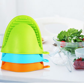 Silicone Stylish Pot Holder Finger Guard - Set of 2