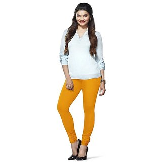 Women's Rubby Plus Churidar LeggingsYellow