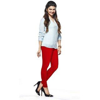 Women's Churidar Red Leggings