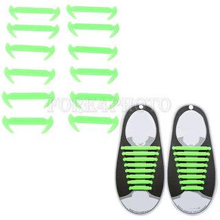 No Tie Elastic Silicone Shoe Laces Set