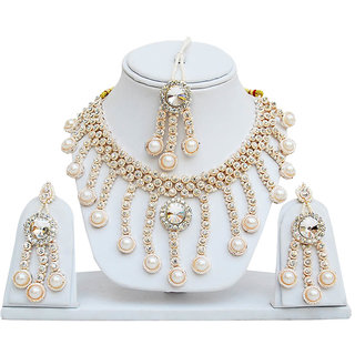 Jewels Capital Exclusive White Necklace Set / S 2454