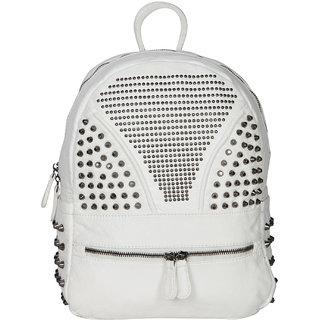 White PU Backpack