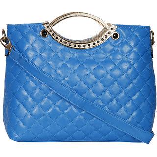 Blue PU Satchel