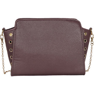 Purple PU Sling Bag