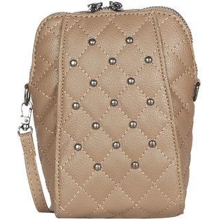 Brown PU Sling Bag