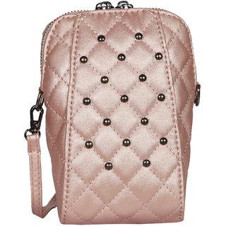 Pink PU Sling Bag