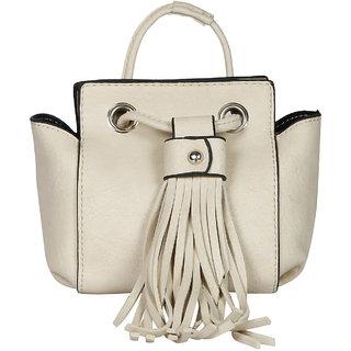 Beige PU Sling Bag