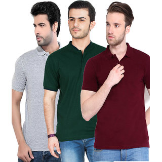 Concepts Men's Multicolor Polo (Pack of 3)