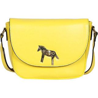 Yellow PU Sling Bag