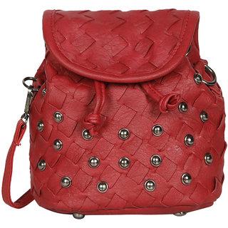 Red PU Sling Bag