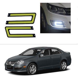 AutoStark Waterproof U Shape COB LED DRL Car Parking Daytime Running Light White For Volkswagen Passat Upto 2009