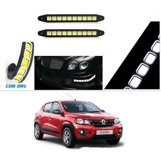 AutoStark Flexible Bumper Car Daytime Running Light Cob Light Square Box  For Renault Kwid