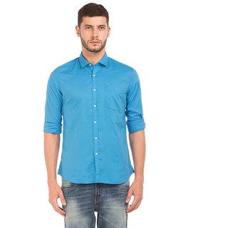Flying Machine Green Full sleeves Regular Fit Casual Shirt For Men