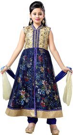 Aarika Girls Party Wear Blue Churidar Suit
