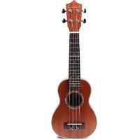 Magideal 21'' Mahogany Ukulele Hawaiian Guitar Soprano Ukelele with Gig Bag