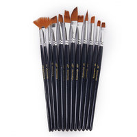 Magideal 12 Assorted Size Artist Painting Brushes Set