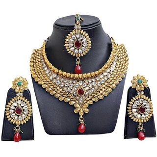 Jewels Capital Gold Plated Multicolor Alloy Necklace Set For Women