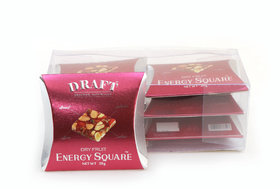 Draft Energy Square Dry Fruits Chikki Sweet made of Almonds,Cashews, Pistachios,Pack of 6, 20 G each
