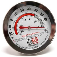 DayMark IT115410 Stainless Steel Refrigerator/Freezer Classic Thermometer, 2.4