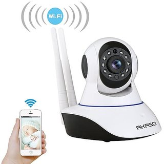 Tuzech  Double Antenna Auto- Rotating Night Vision Mobile HD CCTV Wifi Camera 720P with Audio