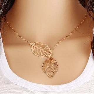 Veronique- Gold Leaf Cut Chain Necklace For Women  - 1 Qty