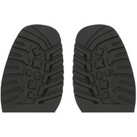 Magideal  Pair Rubber Stick On Soles Half Anti Slip Sho