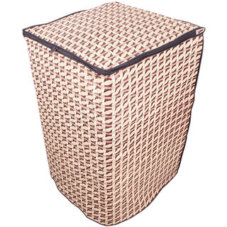 Dream CareAbstract Brown Coloured Waterproof & Dustproof Washing Machine Cover For PANASONIC NA-F70S6 Fully Automatic Top Load 7 kg washing machine