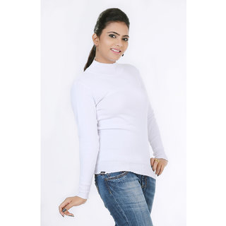 726632800f8 Renka Knitted Winter Pullover top - white Color - Women causal Wear