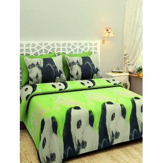 019b8c3c6 Shubh Collection of 3D Glace cotton Bedsheet with 2 Pillow Cover(N8)