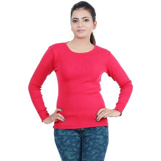 61cc69c1da3 Renka Skivvy Red Round-neck Knitted Winter Tops - (L) Prices in ...