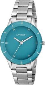 LAURELS Colors Series Cyan Color Women Watch (Lo-Colors