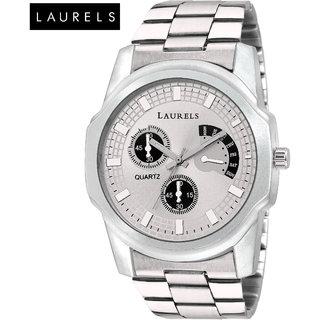 Laurels Large Size  Silver Dial Men'S Watch - Lo-Mtx-070707