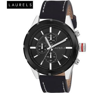 Laurels Curren Black Dial Men'S Watch - Lo-Crn-020202