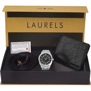 Laurels Men'S Combo Pack Of Watch, Wallet & Belt (Cp-Polo-802-Hrnt-02-Vt-0209)