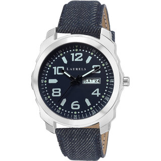 Laurels Dexter III Analog Blue Dail Men Watch ( Lo-Dxtr-III-030307 )