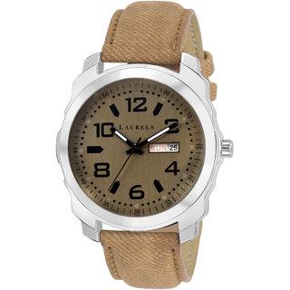 Laurels Dexter III Analog Brown Dail Men Watch ( Lo-Dxtr-III-090907 )