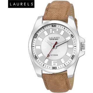 Laurels Gatsby White Dial Men'S Watch - Lo-Gt-201